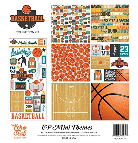 Echo Park Paper Company SW6605 Basketball Collection (Basketball Scrapbooking Paper)