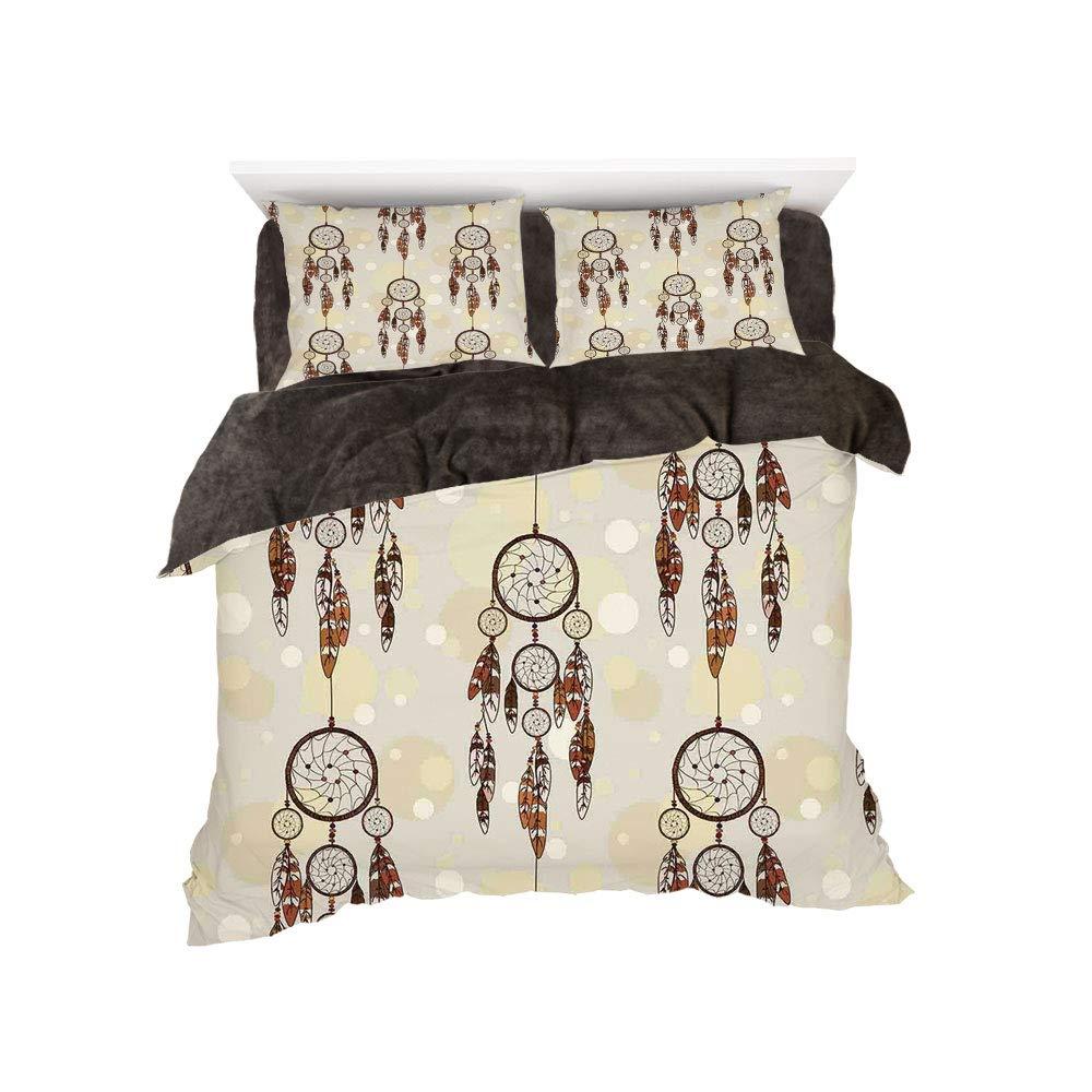 iPrint フランネル布団カバー4点セット ベッドリネン 冬休みパターン ネイティブアメリカン エスニック 伝統的なアステカ模様 幾何学図と矢 アート ティール パープル イエロー bed width 6ft(180cm) BotingFLR_hei_13911_king 180 B07L1VLLX1 カラー11 bed width 6ft(180cm)