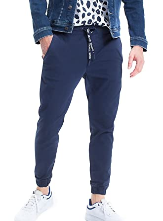nouvelle collection meilleur authentique large éventail Tommy Hilfiger Relax Dobby Jog Chino Pantalon Jogging Homme ...