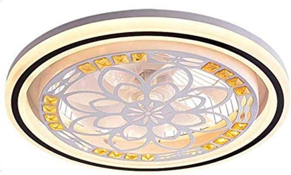 CDwxqBB Ventilador De Techo con Iluminación, Luz LED del Ventilador, Velocidad del Viento Ajustable, Control Remoto Regulable, Luz De Techo LED Moderna para Comedor Y Dormitorio,Round