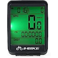Walmeck- A Prueba de Agua Bicicleta Velocímetro Inalámbrico Bicicleta Computadora Pantalla LCD a Prueba de Lluvia Multifuncional Ciclismo Odómetro Temperatura Calorías Contador Usuario A/B Grabador