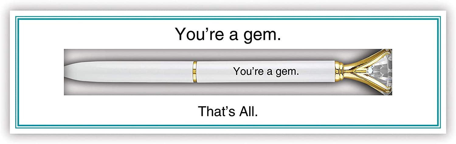 7 Inch Youre A Gem Thats All Boxed Iridescent Ballpoint Pen
