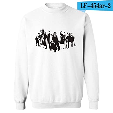 Anime One Piece Sweatshirts O Neck Sweatshirt Men Hoodies Luffy ACE Clothing White