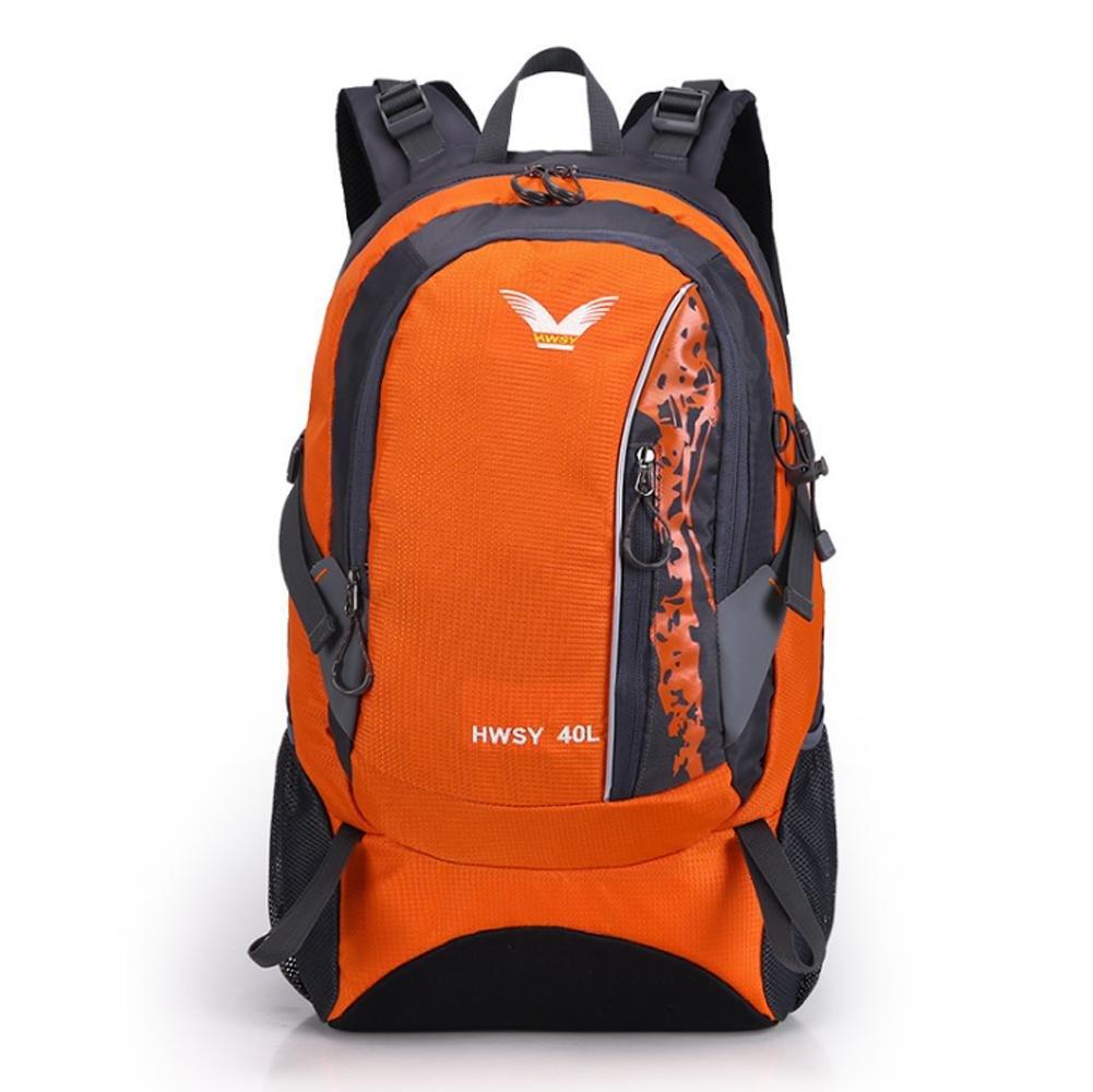Orange  SZH&BEIB Sac à dos randonnée 40L grande capacité Voyage nylon imperméable camping unisexe sac à dos