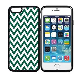 iPhone 6 (4.7 inch display) RCGrafix Chevron Zig Zag Pattern - Leaf Green - Designer BLACK Case - Fits Apple iPhone 6- Protected Cell Phone Cover PLUS Bonus Iphone Apps Business Productivity Review Guide