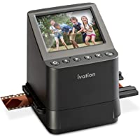 """Ivation High Resolution 23MP Film Scanner Converts 135, 110, 126, Black and White, Films Slides and Negatives into Digital Photos, Vibrant 3.5"""" 3.5"""" Color LCD Display, Easy Quick Load Film Inserts"""