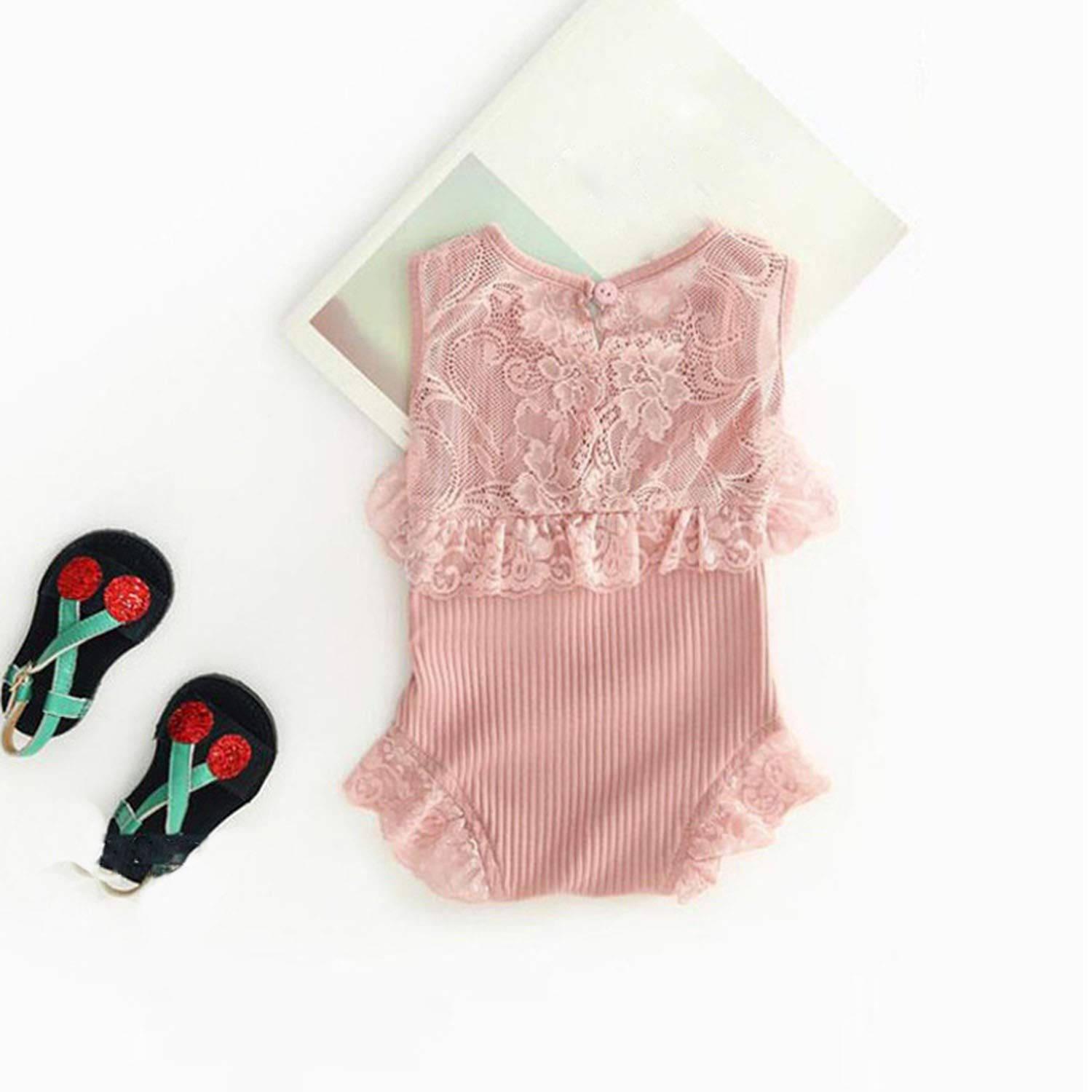 V-A-O-L Long Sleeve Jumpsuit Kids Baby Outfits Clothes for 0-2Y