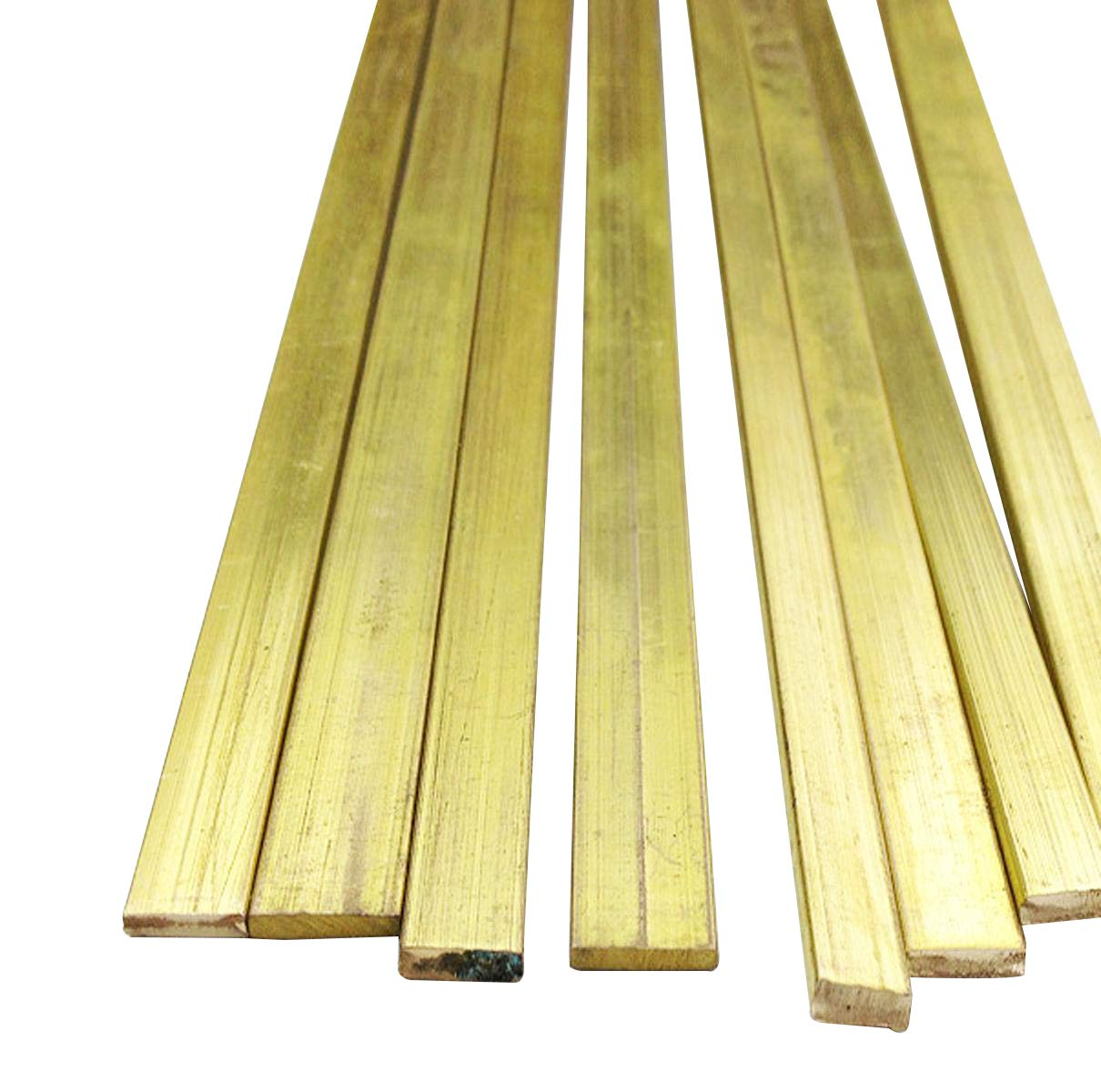 2pcs C360 Brass Flat Bar Sheet 3mm x 12mm x 250mm
