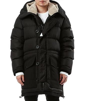 wiberlux moncler loic men s lined hood padded coat black amazon rh amazon co uk