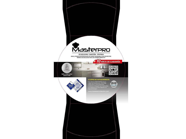 Sartén de inducción de 14 cm con revestimiento antiadherente (aluminio, altura de 3,5 cm, negra): Amazon.es: Hogar