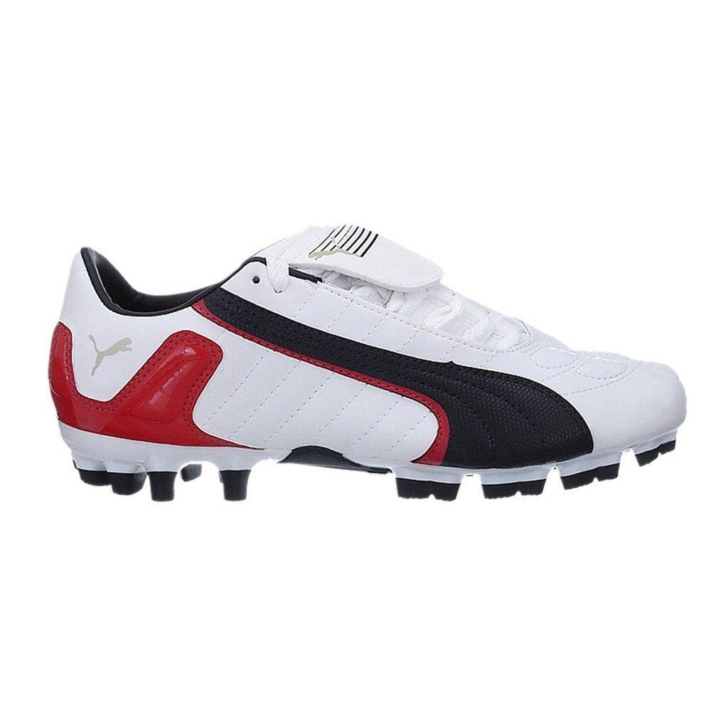 Puma V-Kon II GCi FG 101238 Fußballschuhe Herren Nocken Weiß Rot Schwarz
