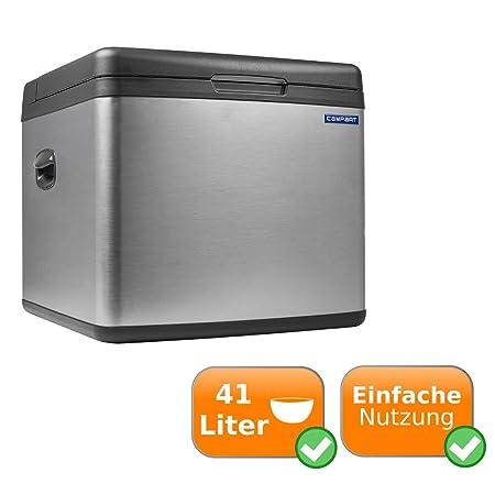 Geräuschlose Kühlbox mit Absorber System und möglichem Betrieb über Gas 240V Steckdose und 12V Zigarettenanzünder mit 41L Fas