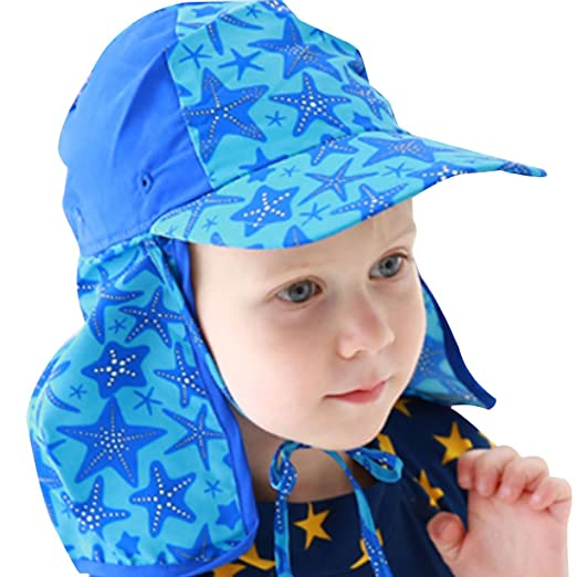 Amazon.com  Zilee Boys Girls Visor Cap Swim Hat - Kids Flap Cap Beach Hat  Sun Hat Baby Sports Hat  Clothing c0dd67ce41c0