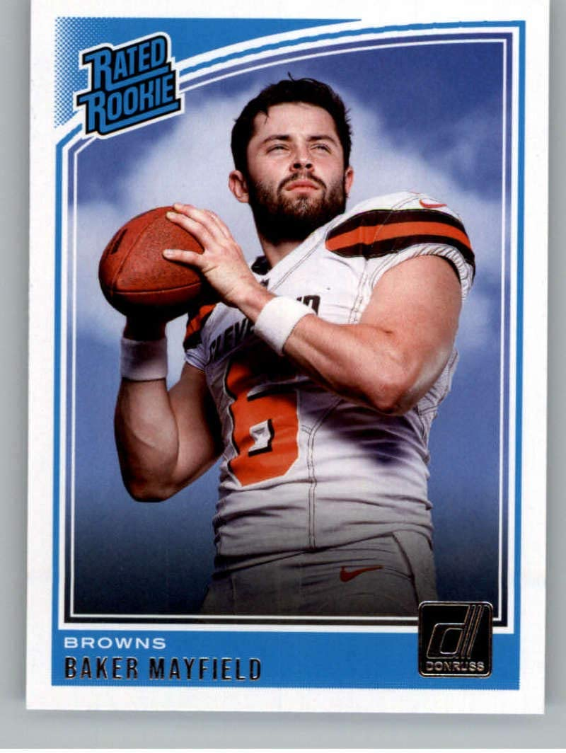 2018 Donruss Football #303 Baker Mayfield RC Rookie Card Cleveland Browns Rated Rookie Official NFL Trading Card