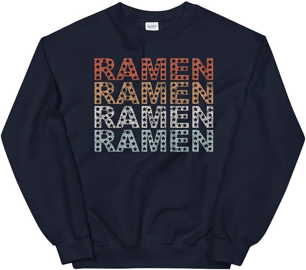 Retro Stars Distressed Vintage Ramen Noodle Unisex Sweatshirt