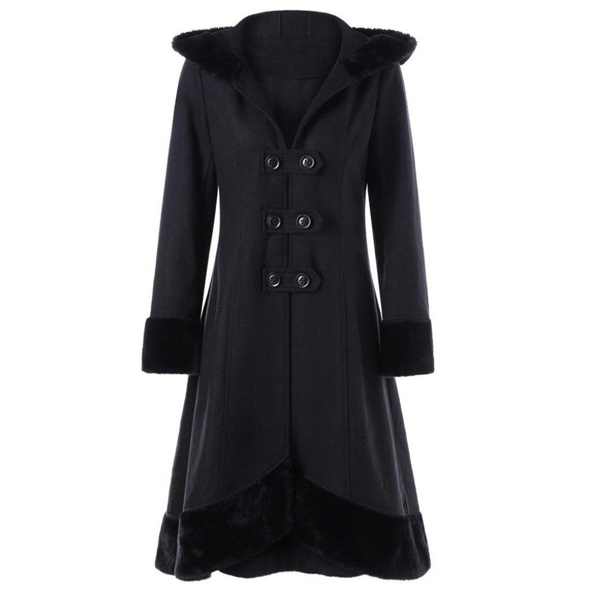 Frauen langer Mantel, Moonuy Mode Elegante Schlanke Damen