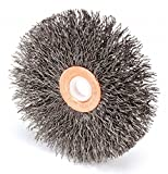 3'' Crimped Wire Wheel Brush, Arbor Hole Mounting, 0.008'' Wire Dia, 1'' Bristle Trim Length, 1 EA - pack of 5