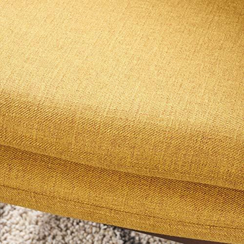 Christopher Knight Home 304780 Ventura Mid Century Modern Fabric Club Chair, Mustard - 5