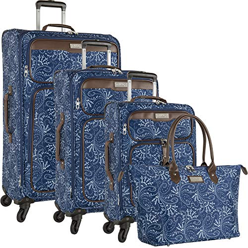 Chaps 4 Piece Spinner Luggage Set, Spring Paisley ()