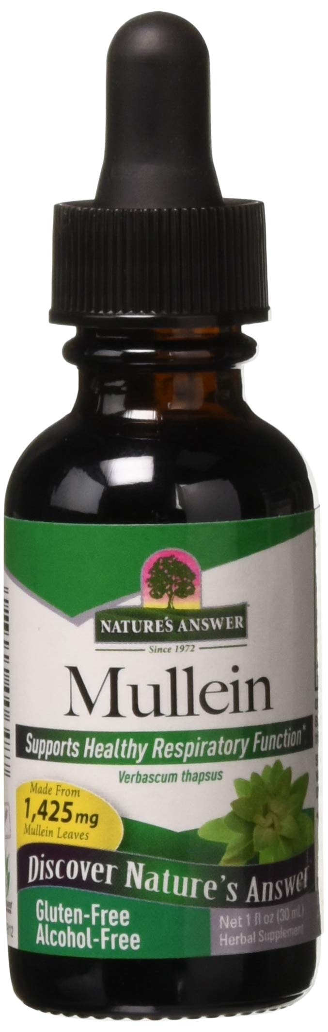 Natures' Answer Alcohol-Free Mullein Leaf, 1-Fluid Ounce