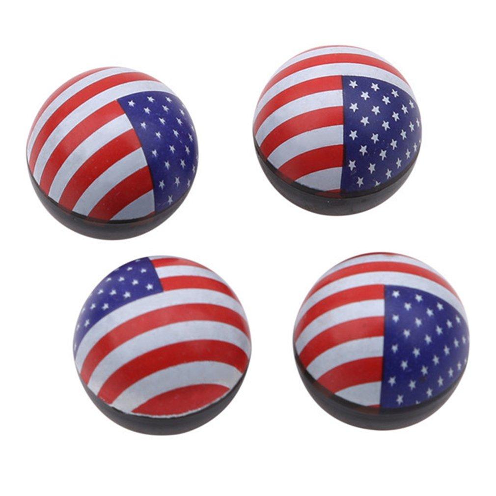 SEVENHOPE Auto Exterieur Dekoration Amerikanische Flagge Ventilkappe Flagge Kreative mundabdeckung DABO