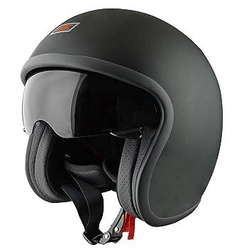 Origine Helmets Sprint Casco Abierta, Negro/Naranja, L