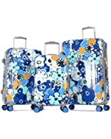 Olympia Blossom II 3 Pieces Polycarbonate Hardcase Spinner Set with TSA Lock PK