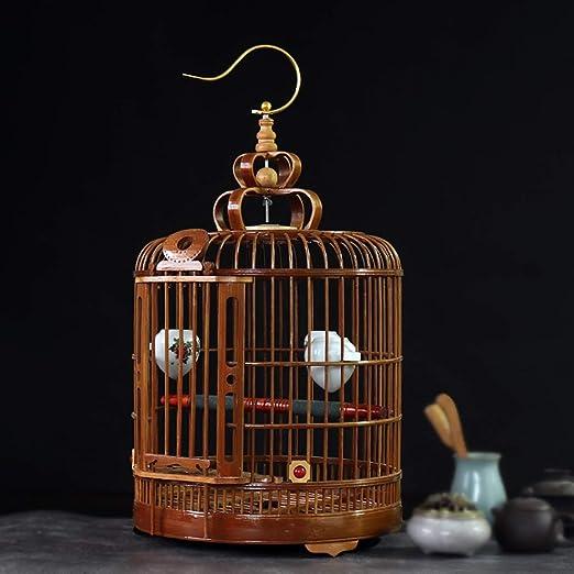 Jaula de pájaros de bambú Mejora Jaula de pájaros pequeños Jaula ...