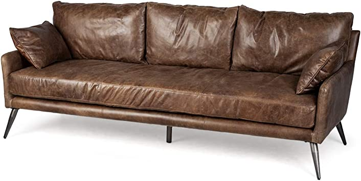 Amazon.com: Mercana Cochrane II Sofa, 3 Seater, Brown ...