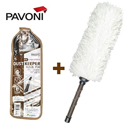 PAVONI Car Duster, Superfine Fibres Circle Dust Keeper - Quick & Easy Removes Cars Dust,Duster Includes Storage Cover: Automotive