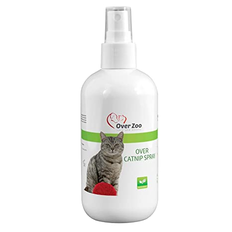 Over-Zoo Catnip Spray (250 ML) - Aerosol calmante con Hierba Gato para