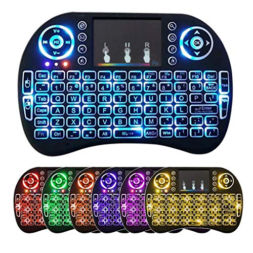 GMSP 7 Color Backlit i8 Wireless Keyboard 2.4GHz Touchpad Fly Air Mouse PC TV PS3 ()
