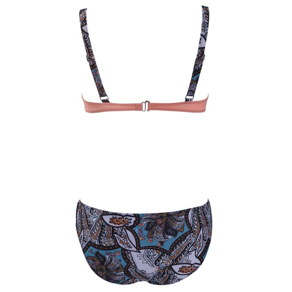 0ada981f74 Amazon.com: SAYFUT Push Up Two Piece Bikini Swimsuit Candy Patch Padded  Swimwear: Clothing