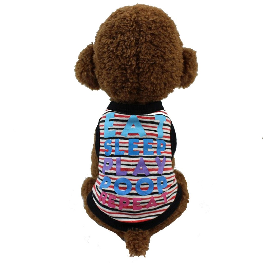 2018 Pet Clothes Dog Cotton T-Shirt, Seaintheson Cute Printed Puppy Summer Apparel Puppy Hoodies Coat Sweater Princess Clothes Only for Small Dog