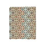 VROSELV Custom Blanket Vector Seamless Islamic Pattern with Ethnic Motifs for Home Print Soft Fleece Throw Blanket Brown and Beige