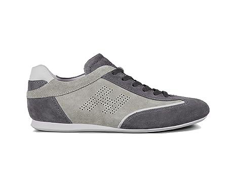 Sneakers Hogan Camoscio Olympia Grigio Uomo Outlet :
