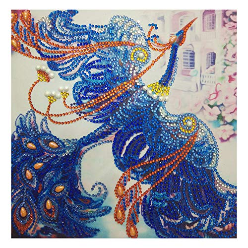 Franterd DIY Special Shaped Diamond Painting Phoenix Kits for Adult&Kids DIY Handmand Partial Drill Cross Stitch Kits Crystal R ()
