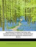 Matthaei Vindocinensis Ars Versificatori, Matthew Vendôme Matthew, 1241257213