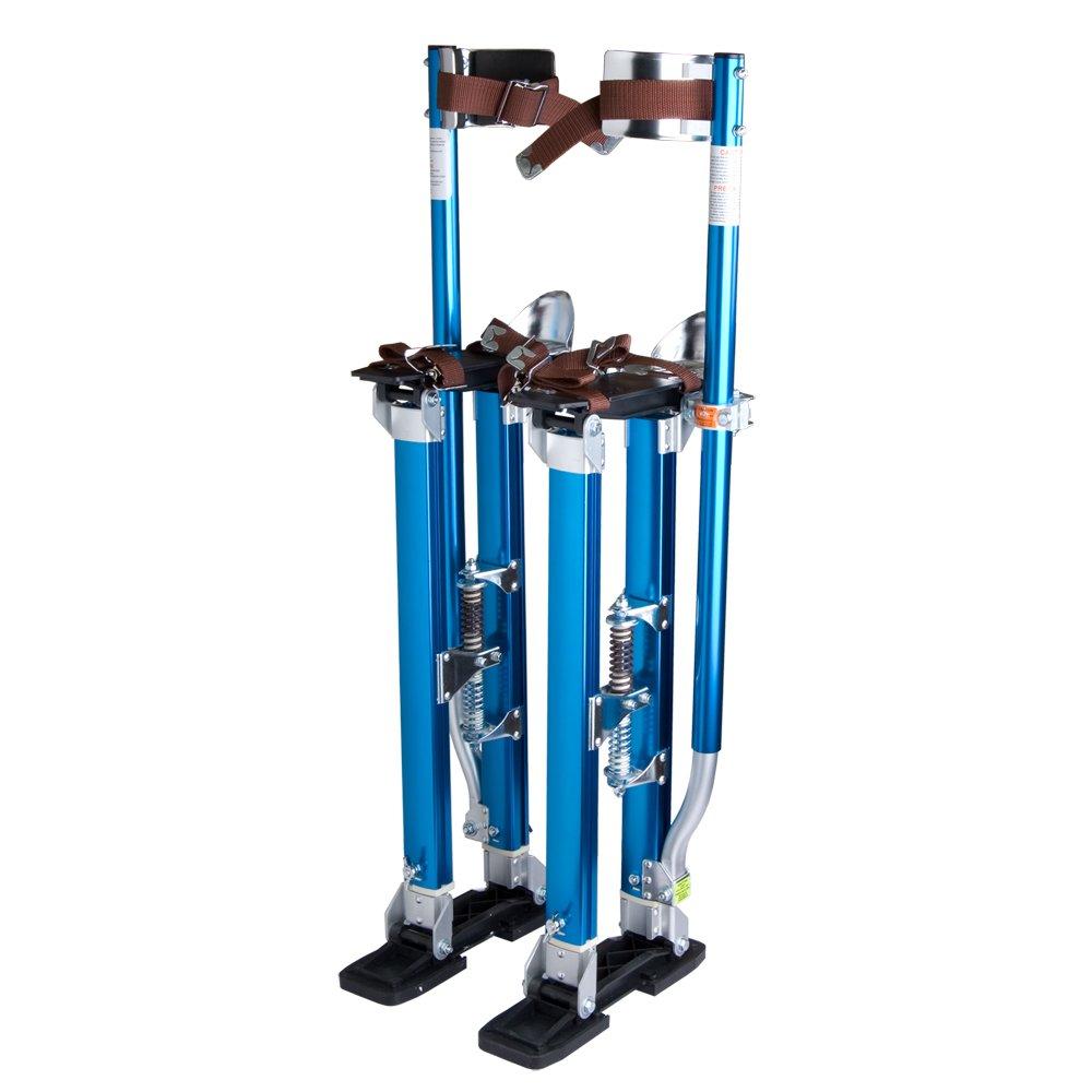 Drywall Stilts 24''-40'' Aluminum Tool Stilt for Painting Painter Taping Blue