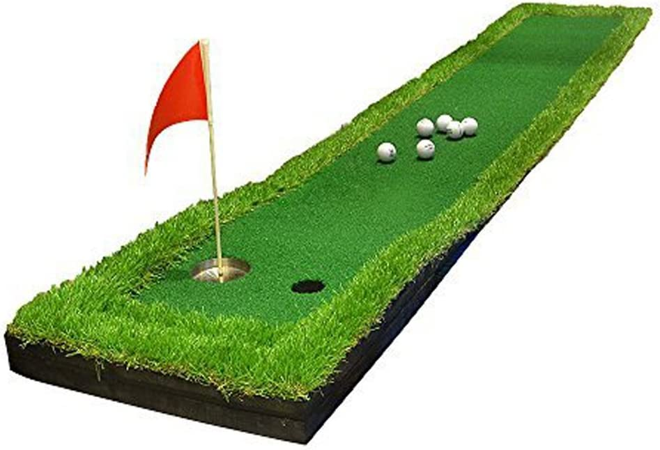 Fungreen 20 X118 Golf Putting Mat Golf Putting Green Indoor Backyard Golf Practice Training Aid Equipment With 2 Holes For Beginners To Professional Players Putting Mats Amazon Canada