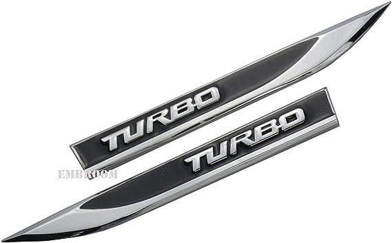 2 X Turbo Auto Embleme 3d Metall Auto Seite Kotflügel Heckklappe Kofferraum Emblem Abzeichen Aufkleber Ersatz Für Universal Auto Auto