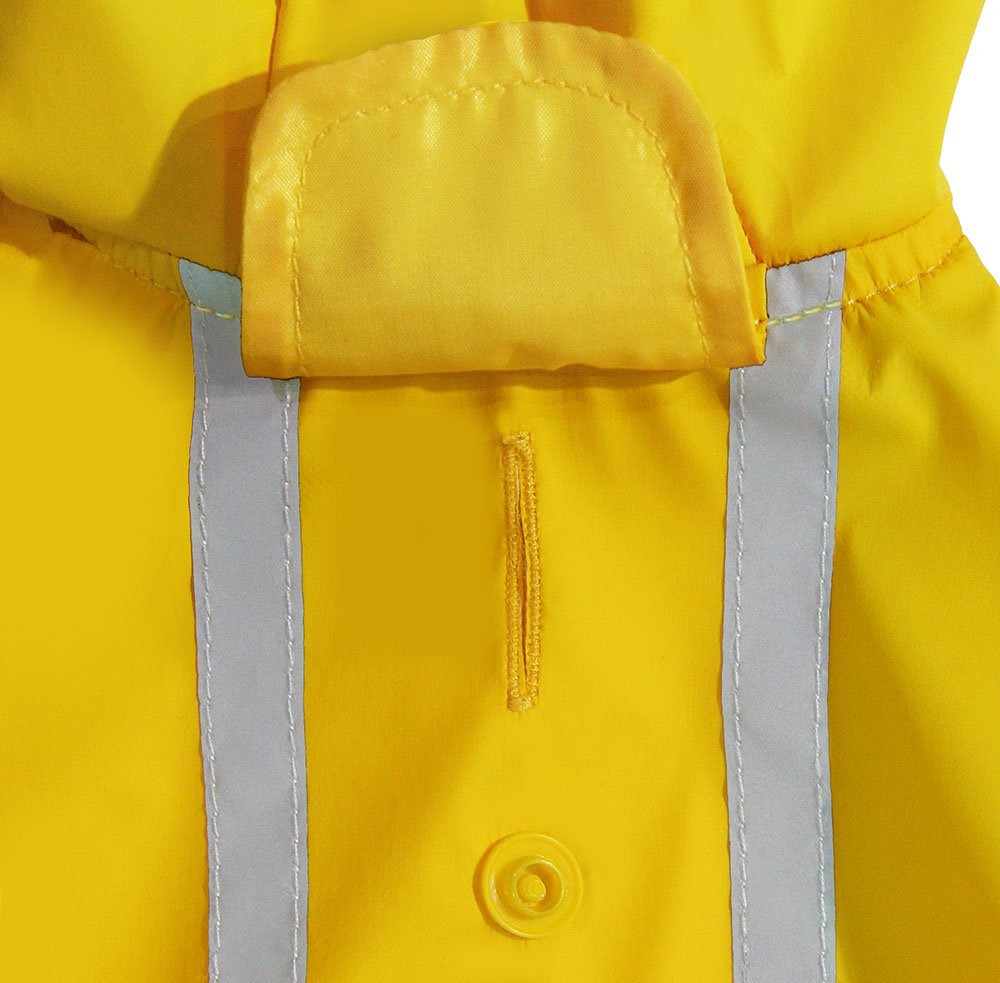 Best Pet Supplies - Voyager Waterproof Dogs Rain Poncho, Yellow, Medium by Best Pet Supplies, Inc. (Image #1)