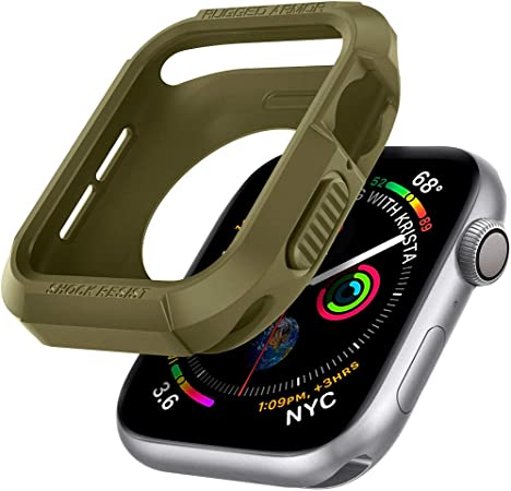 Spigen Rugged Armor Kompatibel Mit Apple Watch Hülle Für 40mm Serie 6 Se 5 4 Olivgrün Elektronik