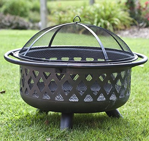Wood Burning Fire Pit Outdoor Furniture Background Patio Outside Grill Grate Cover