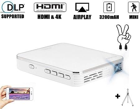 Mini proyector de 2000 lúmenes, 4K DLP 854 x 480p Multimedia ...