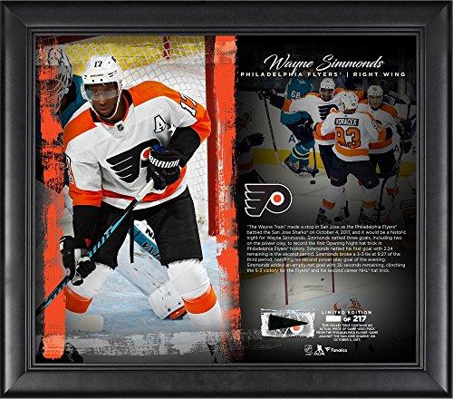 Night Game Framed - Wayne Simmonds Philadelphia Flyers Framed 15