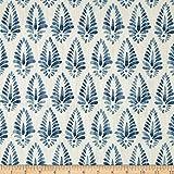 Lacefield Designs Agave Linen Blend Basketweave Fabric, Azure