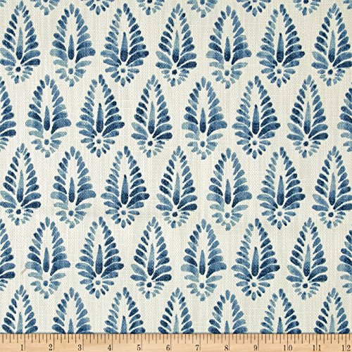 Lacefield Designs Agave Linen Blend Basketweave Fabric, Azure by Lacefield Designs