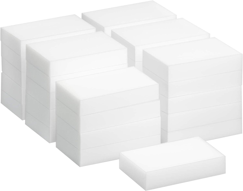 TRIXES 30 Pack de Esponjas Mágicas de Limpieza - Borrador Mágico Almohadilla Quita Manchas - Natural Eco Blanca - Puede ser Cortado a la Medida