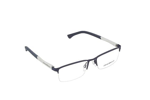 b508e0f245d Armani EA1041 Eyeglass Frames 3131-53 - Blue Rubber at Amazon Men s ...